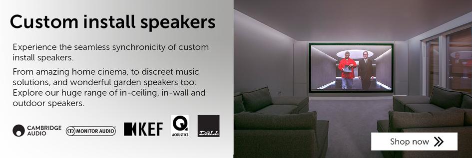Custom install speakers