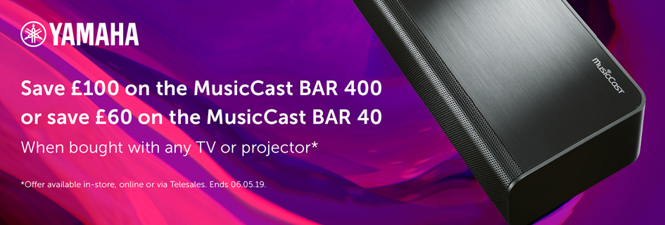 Yamaha MusicCast BAR 400 & BAR 40 offer