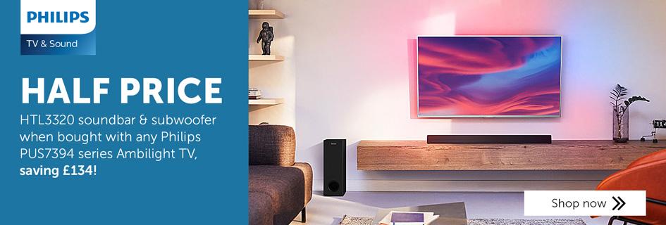 Half price Philips HTL3320 soundbar with selected TVs