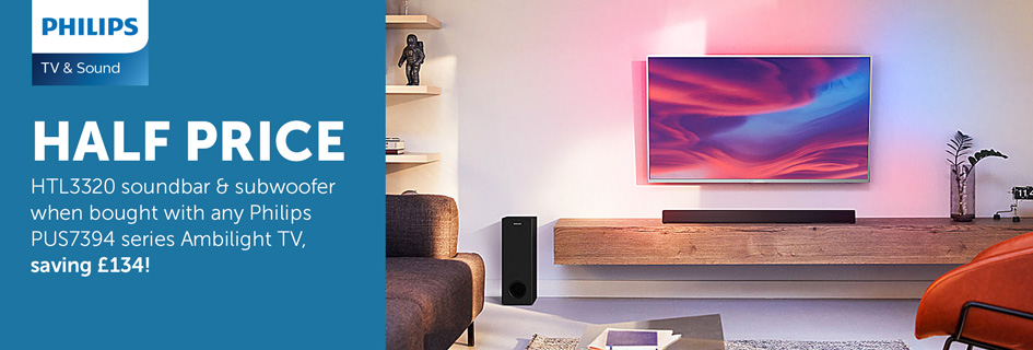 Half price Philips HTL3320 with selected TVs