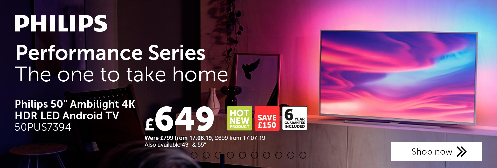 Philips performance series. The one to take home. Find out more.