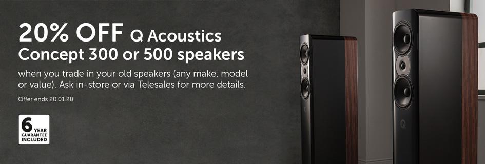 Q Acoustics Concept trade in