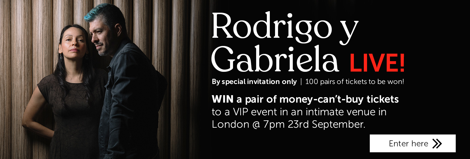 Win tickets to see Rodrigo y Gabriela live