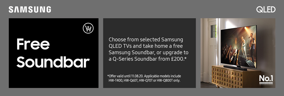 Free Samsung soundbar with selected QLED TVs