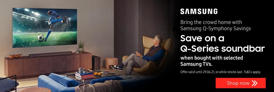 Save on a Samsung Q-Series soundbar- All TVs