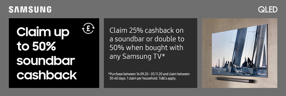 Samsung soundbar cashback
