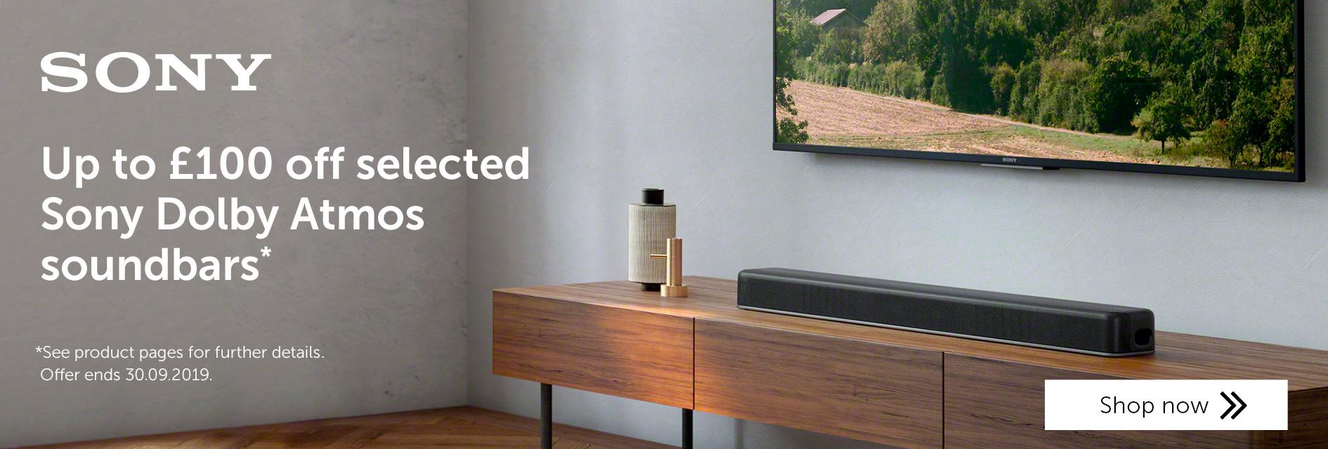 Sony Dolby Atmos soundbar promo