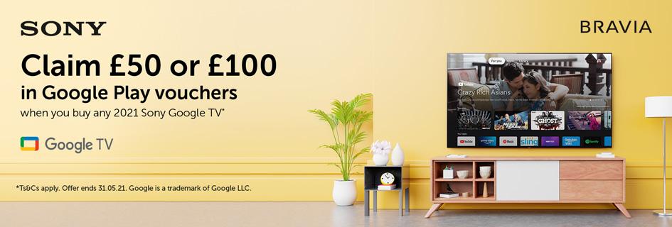 Sony Google TV voucher promo