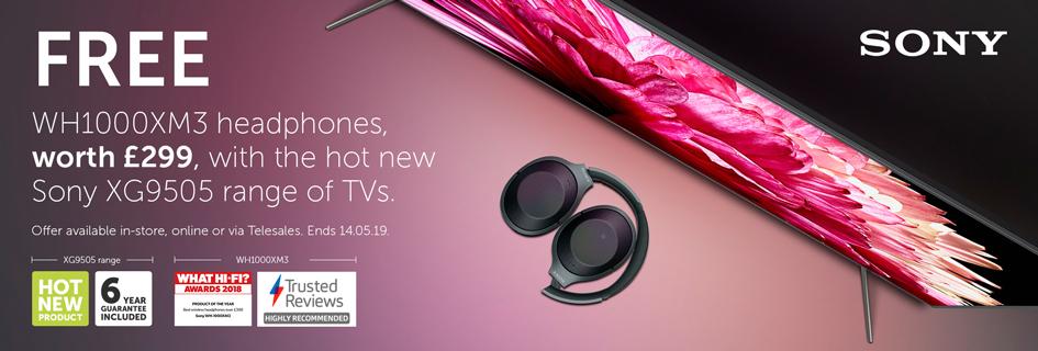 Sony XG9505 & WH1000XM3 promo
