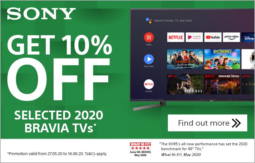 Sony 2020 Bravia TV offer