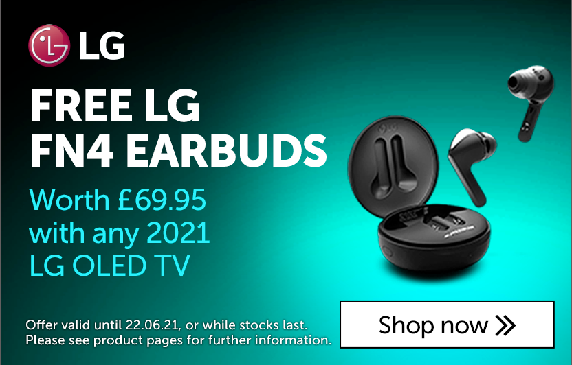 FREE LG earbuds with LG 2021 OLED TVs