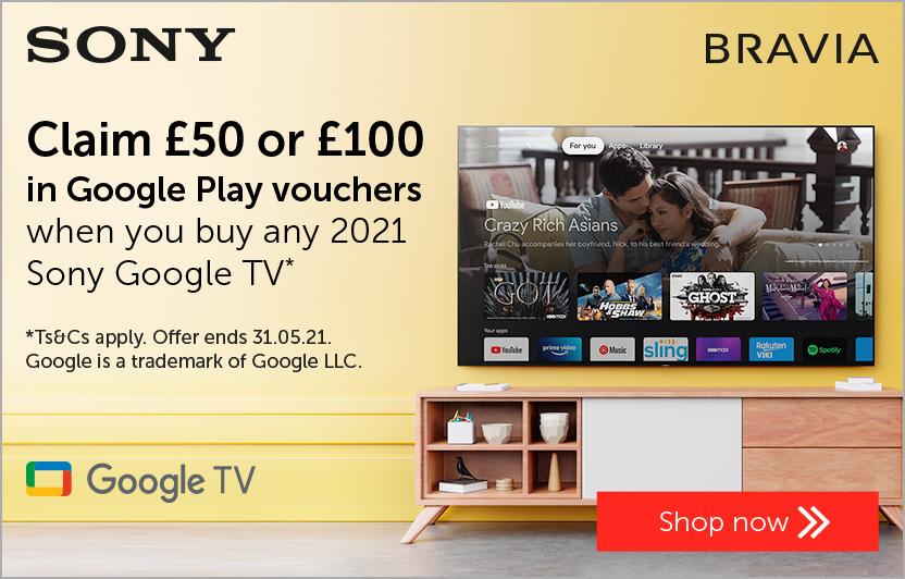 Sony Google TV voucher