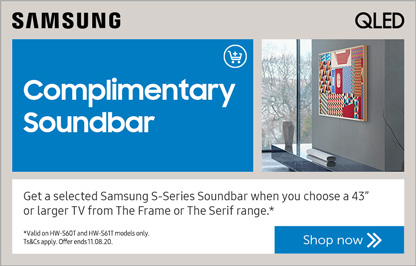 Samsung Frame soundbar promo